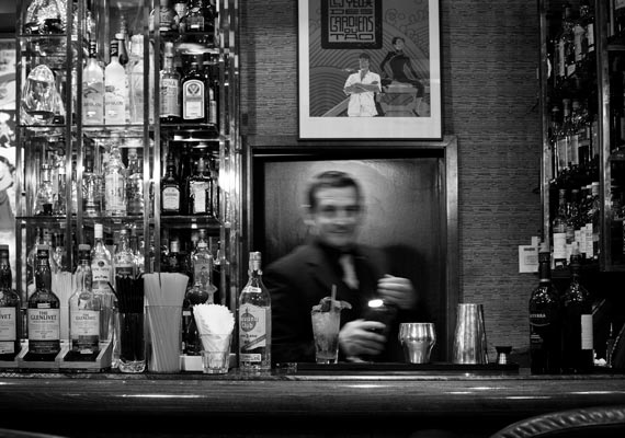 Portrait of Filippo Baldan, Belgian cocktail bartender.